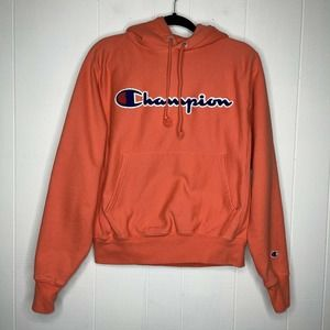 Champion Reverse Weave Coral Hoodie S